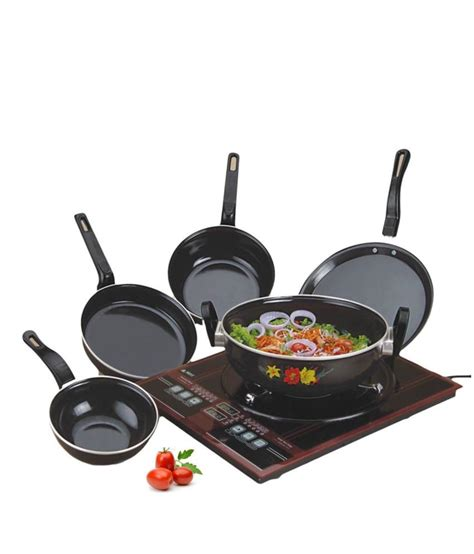 induction cooking set milton safe induction friendly cookware set of 5 buy at best price in india snapdeal
