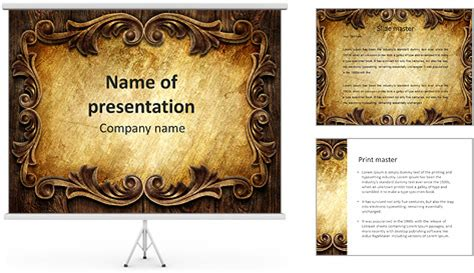 Classic Ornament Powerpoint Template Backgrounds Id 0000008420 Smiletemplates Com Classic Powerpoint Templates