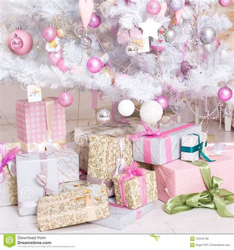 pink decorative christmas boxes giftboxes pink and white christmas decorations balls
