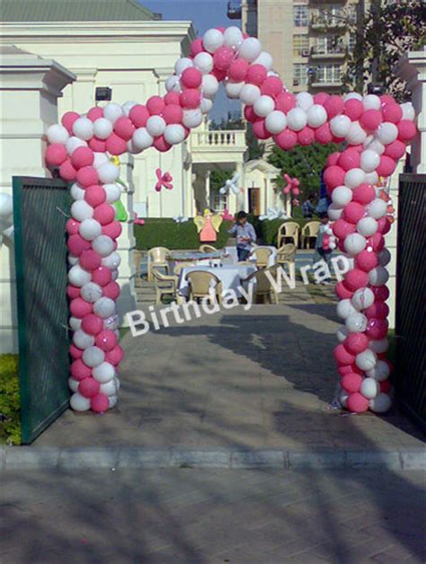 Entrance Decoration For Birthday by Entrance Gate Decoration Birthday Wrap