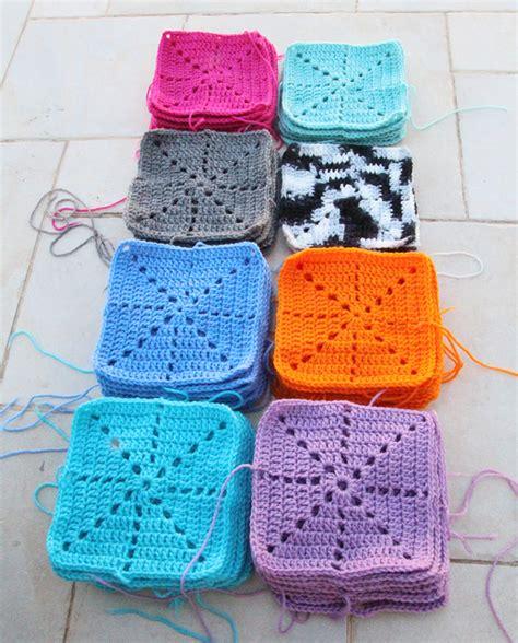 Crochet Square Blankets by Crochet Filet Starburst Squares Blanket In The Works
