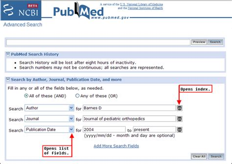 Advanced Search Ncbi Beta Version Of Advanced Search Available Nlm