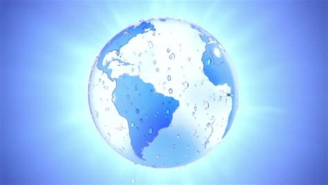 shiny water flow creates fresh wet glassy earth expressing
