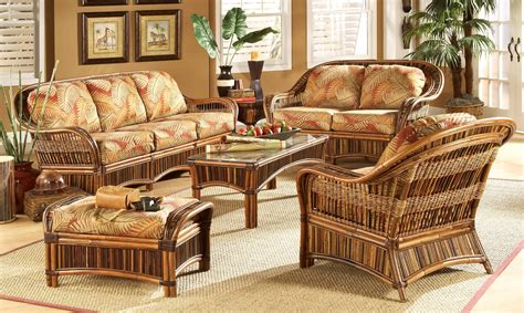 Rattan Living Room Chairs Wicker Living Room Sets Otbsiu