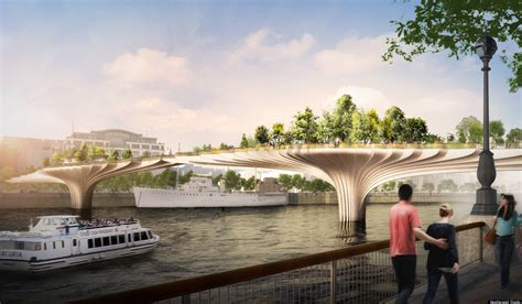 Garden Bridge by To Build A Garden Bridge River Thames