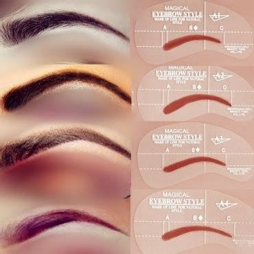 get that perfect shaped eyebrow using quot eyebrow shaper