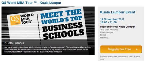 Universities In Malaysia For Mba by The World S Top Business Schools Mba Coming To Kuala
