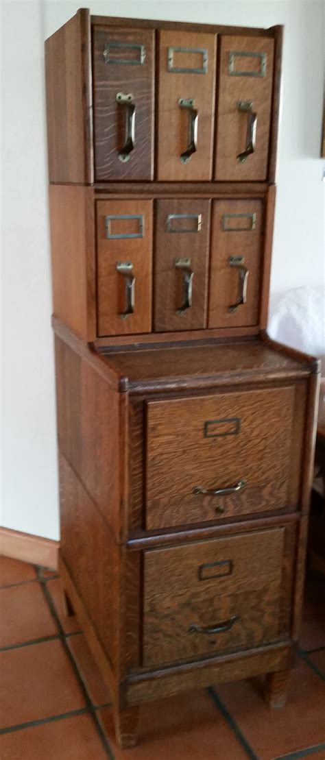 Antique Card File Cabinet Antique 9 Drawer Oak Library