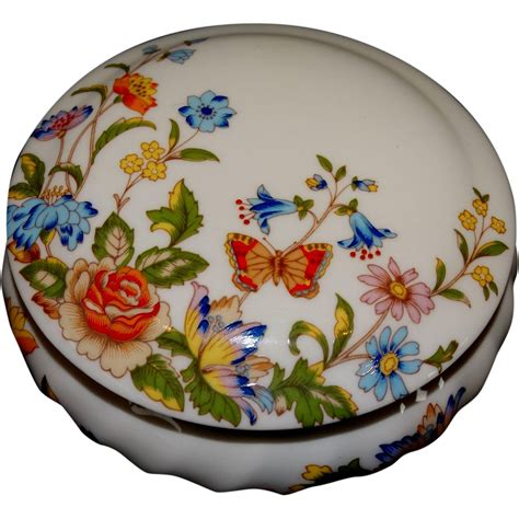 Aynsley China Cottage Garden by Aynsley Trinket Vanity Jar Bone China Cottage Garden