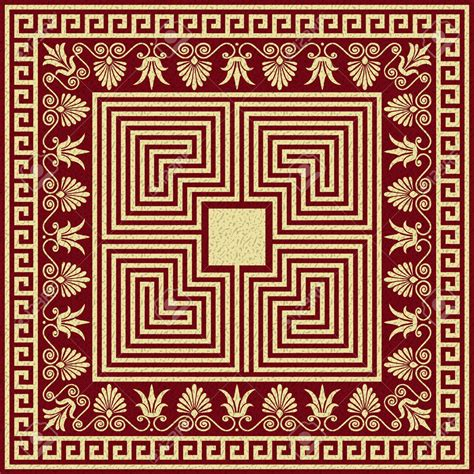 23 Greek Ornament Mosaic Patterns Patterns Design Trends Premium Psd Vector Downloads Ornament Stencil Template