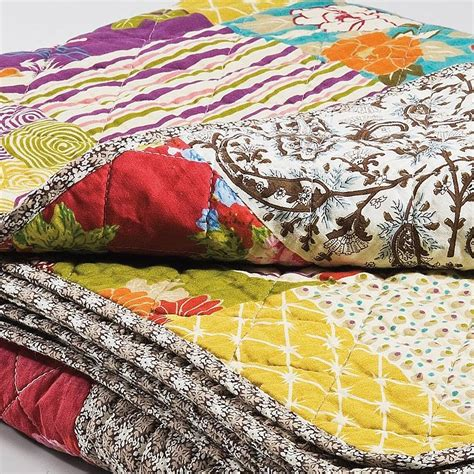 Patchwork Quilted Throw - patchwork throw by i retro notonthehighstreet
