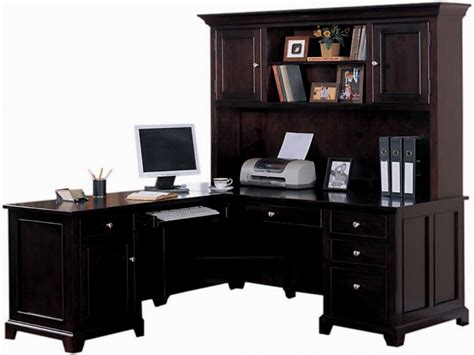 Desks With Hutch For Home Office L Shaped Office Desk With Hutch Ideas For Home Decor