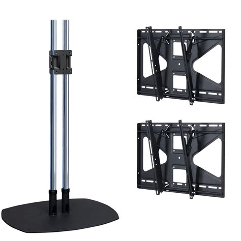 Monitor Floor Stand by Premier Mounts 72 Inch Dual Display Floor Stand With