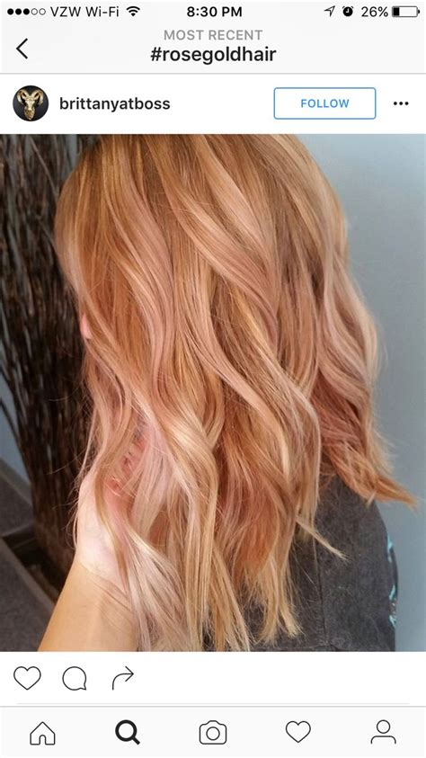 is rose gold haircolor the same as strawberry blonde haircolor 63 best hair styles images on pinterest hairstyles hair