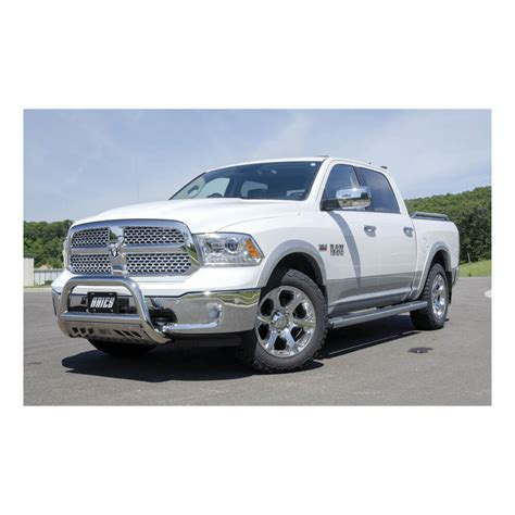 ram  aries bull bar  removable skid plate  tubing polished stainless steel