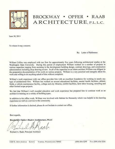 College Of William And Letter Of Recommendation Letter Of Reference William Collins Archinect
