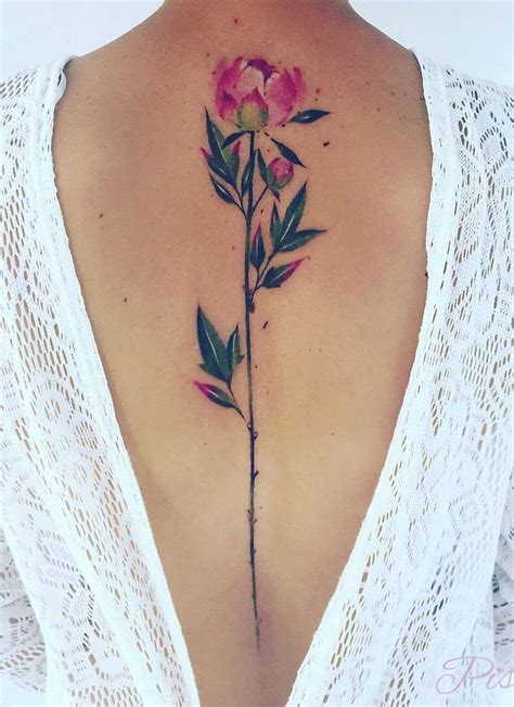 tattoos girls spine tattoos for designs ideas and meaning