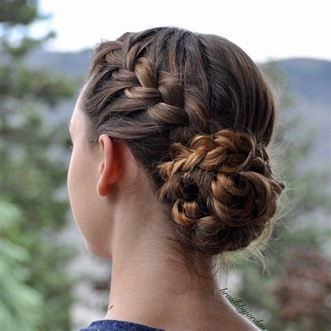 How To Put Braids Into A Bun | quot french braid into a braid wrapped messy bun on myself