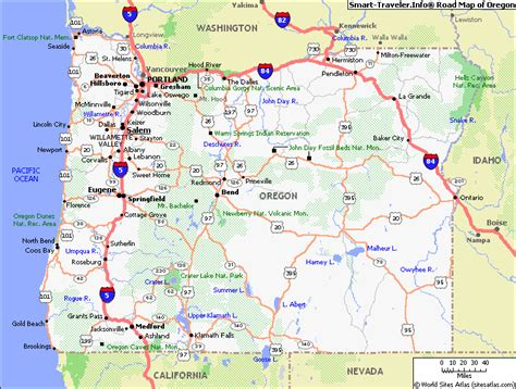 map  oregon america maps map pictures
