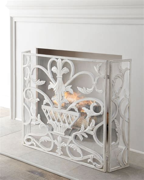 quot white urn quot fireplace screen