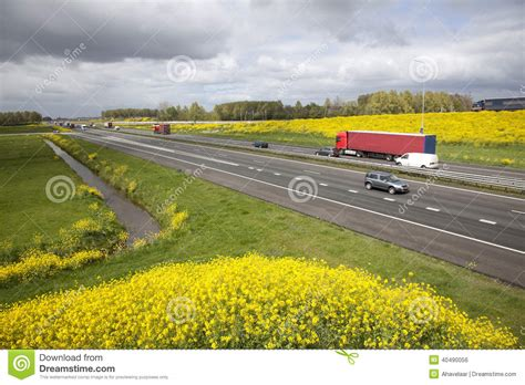 netherlands motorway map highway a15 in the netherlands in stock photo image 40490056