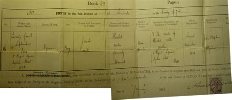 Full Birth Certificate Hull | the mysterious henry miller