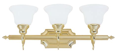 livex lighting french regency polished brass three light livex lighting polished brass vanity polished brass 1283