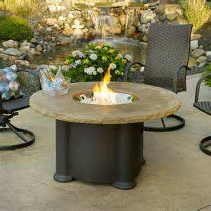 Outdoor Gas Fire Pit Tables - colonial round gas fire pit table contemporary fire pits detroit by woodland direct