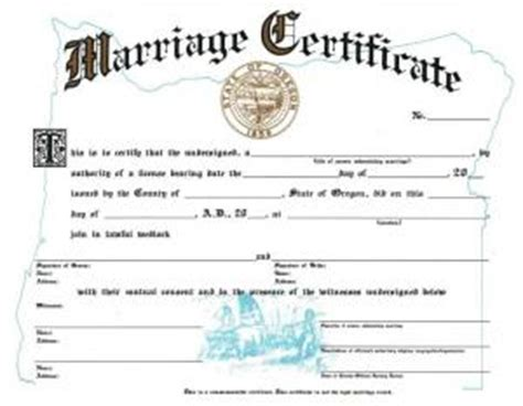 Oregon State Marriage License Records Marriage Licenses Multnomah County