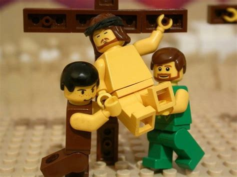 Lego Jesus Minifigure friday through the of a child