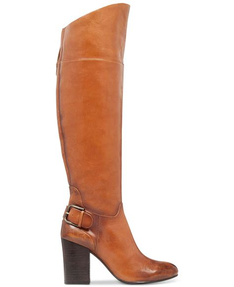 vince camuto sidney boots in brown warm brown lyst