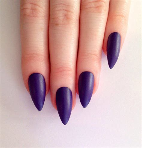 matte purple nail matte purple stiletto nails nail from prettylittlepolish