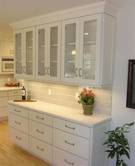 shaker style glass cabinet doors shallow buffet built of white shaker cabinets with