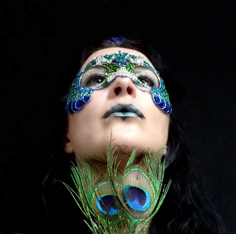 Handmade Masquerade Masks - peacock masquerade mask handmade on luulla