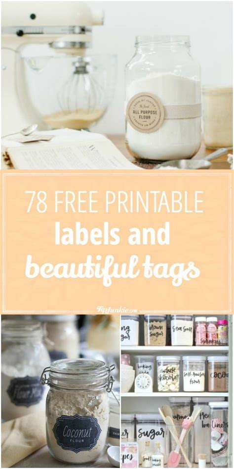 printable labels  beautiful tags tip junkie