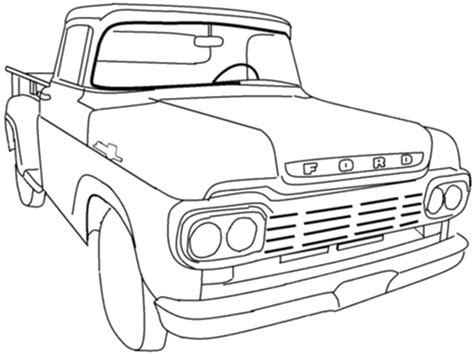 ford trucks coloring page ford pikup colouring pages