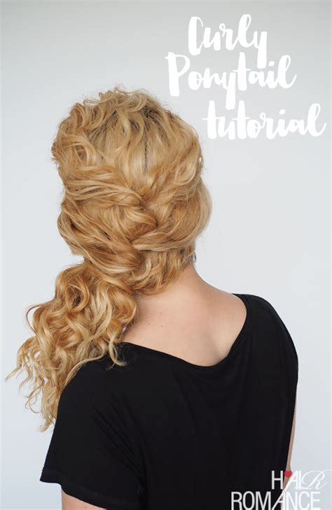 hair long enough for a ponytail curly hair tutorial easy ponytail with a twist hair
