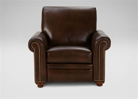 custom recliners conor leather recliner omni brown custom quick ship