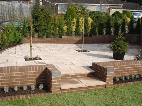 Outdoor Patio Walls by All New Garden Walls And Patio In Ledbury Pave Your Way