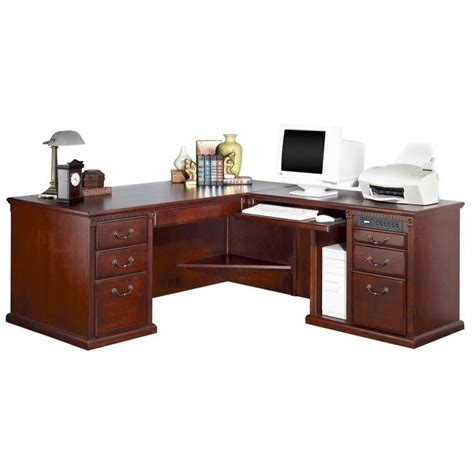 L Shaped Executive Desk With Hutch Kathy Ireland Home By Martin Huntington Club Rhf L Shaped Executive Desk With Hutch Hcr682