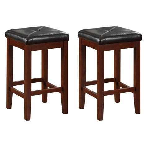 Square Backless Counter Stools by Crosley Upholstered Square Seat Backless Counter Stool