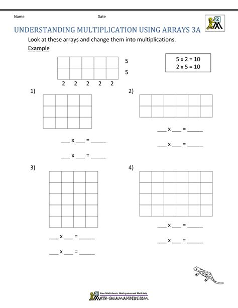 free printable multiplication worksheets 2nd grade