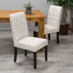 zebra print dining room chairs set of 2 dining room beige zebra print tufted fabric