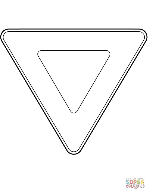 yield sign color canada yield sign coloring page free printable coloring