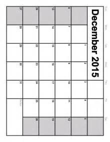 Free Template For Calendar 2015 by December 2015 Calendar Printable Template 8 Templates