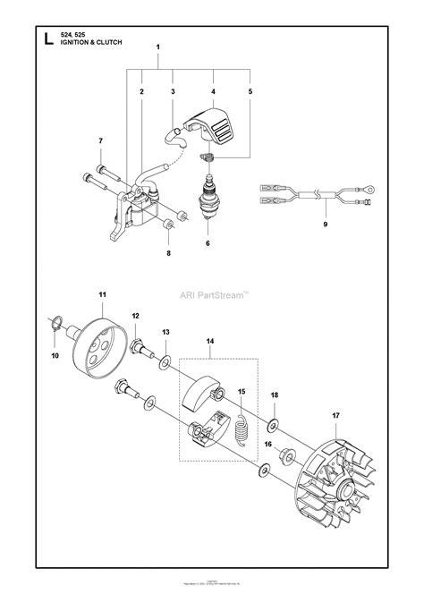 husqvarna  lk   parts diagram  ignition system clutch