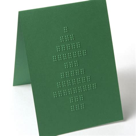 how to make braille cards braille card tree green by