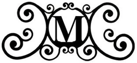 wrought iron monogram letter   door house plaques