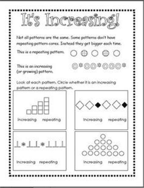 pattern definition for 2nd grade patterns unit repeating increasing and decreasing