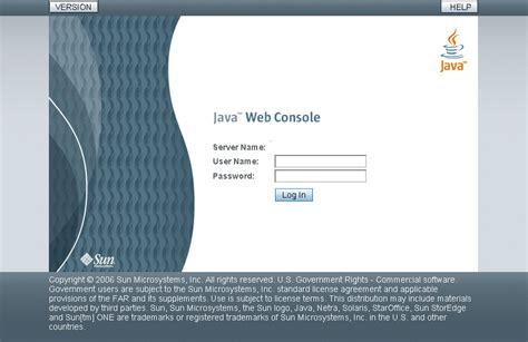 start applications   java web consoles